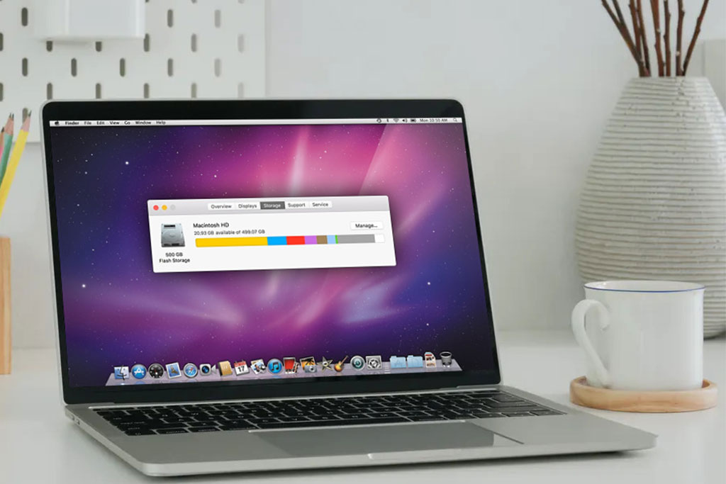clear disk space on mac